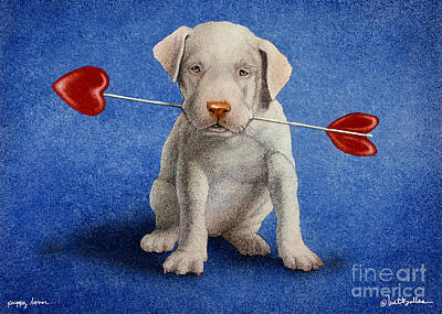 Humor. Painting - Puppy Lover... by Will Bullas
