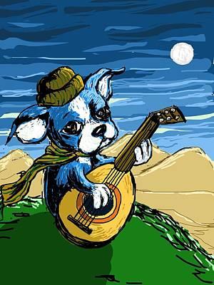 Puppy Serenade Art Print