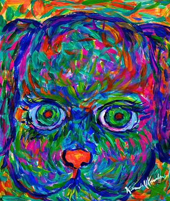 Painting - Puppy Stare by Kendall Kessler