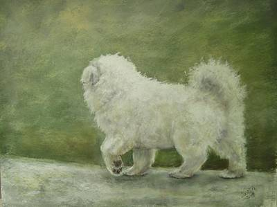 Puppy Struttin' Art Print by Elizabeth Ellis