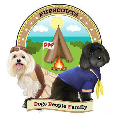Mixed Media - Pupscouts Dpf by Catia Lee