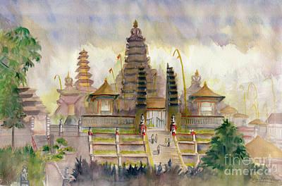 Painting - Pura Besakih Bali by Melly Terpening