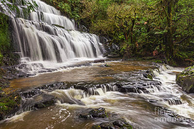 Photograph - Purakaunui Falls Catlins Otago by Colin and Linda McKie