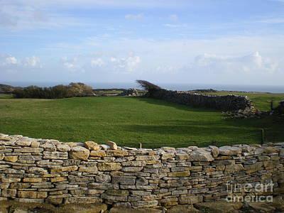 Photograph - Purbeck Stone Wall by Ann Fellows
