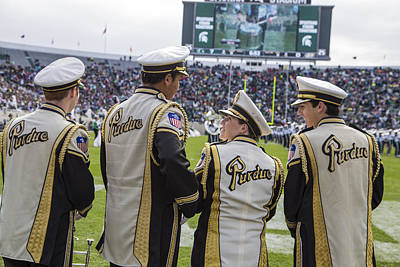 Marching Band Photograph - Purdue Band Members At Msu by John McGraw
