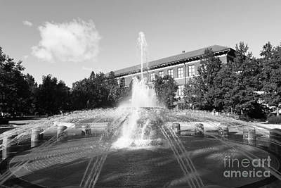 Indiana Photograph - Purdue University Loeb Fountain by University Icons