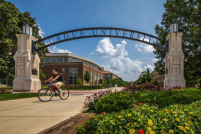 Photograph - Purdue University by Ron Pate