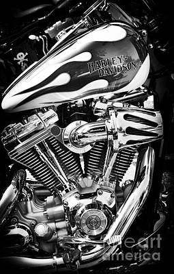 Pure Harley Chrome Art Print by Tim Gainey