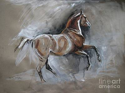 Horse Pastels Painting - Pure Joy by Dorota Kudyba