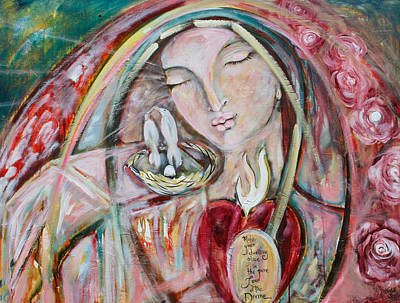 Mary And Jesus Painting - Pure Love Of The Divine by Shiloh Sophia McCloud