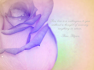 Pastel Photograph - Pure Love by The Art Of Marilyn Ridoutt-Greene