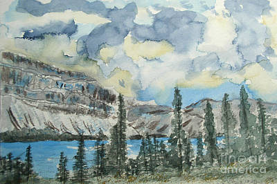 Composure Painting - Pure North - Bow Lake Alberta by R Kyllo