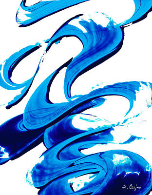 Painting - Pure Water 314 - Blue Abstract Art By Sharon Cummings by Sharon Cummings