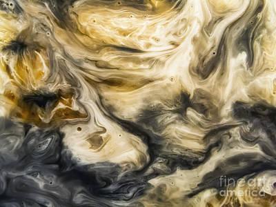 Purgatory Painting - Purgatory Watercolor Abstract Painting by Justyna JBJart