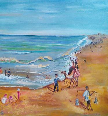 Painting - Puri Beach India by Geeta Biswas