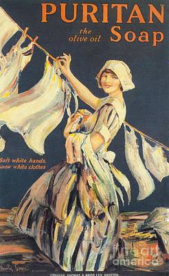 Nineteen-tens Drawing - Puritan 1910s Uk Washing Powder by The Advertising Archives