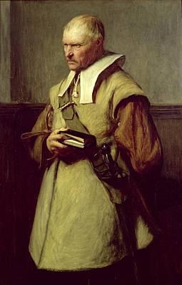 Civil Painting - Puritan, Roundhead by John Pettie