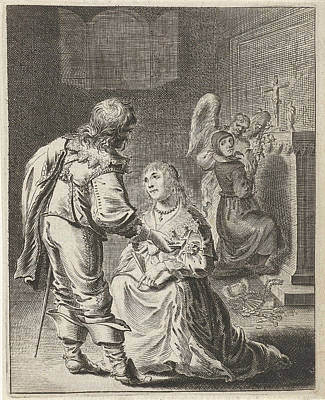 Gloria Drawing - Purity And Vanity, Pieter Nolpe by Pieter Nolpe