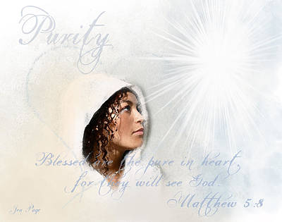 Spiritual Portrait Of Woman Digital Art - Purity by Jennifer Page