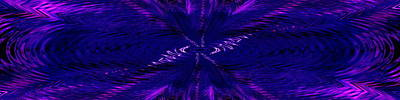 Digital Art - Purl In Purple by Tim Allen
