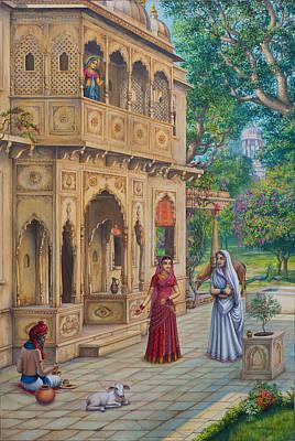 Purnamasi In House Of Kirtida Art Print by Vrindavan Das
