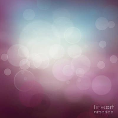 Mythja Digital Art - Purple Abstract Bokeh Background  by Mythja  Photography