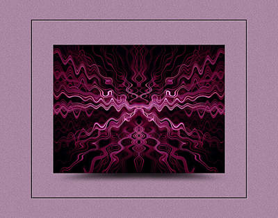 Photograph - Purple Abstract II by Thomas  Jarvais