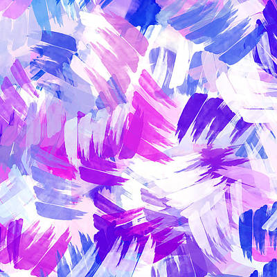 Mixed Media - Purple Abstract Paint Pattern by Christina Rollo