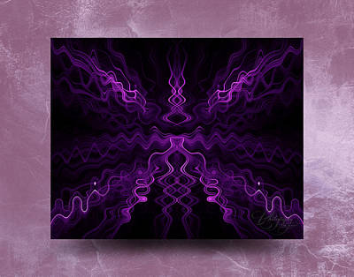 Photograph - Purple Abstract by Thomas  Jarvais