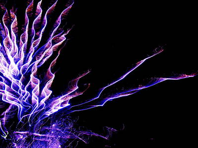 Photograph - Purple And Blue Light Show by Dale Jackson