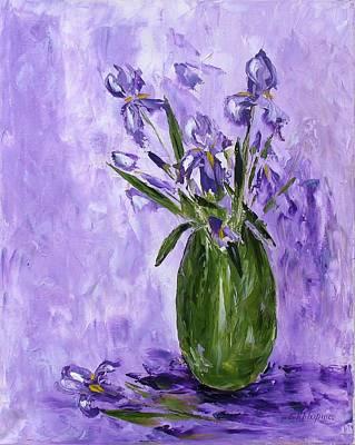 Purple And Green Art Print