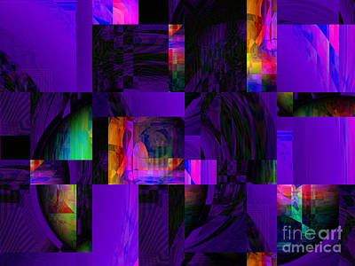 Digital Art - Purple And Her Shadows by Kristi Kruse