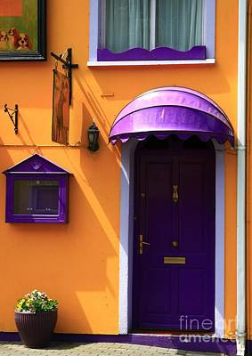 Photograph - Purple And Orange Door by Jeremy Hayden