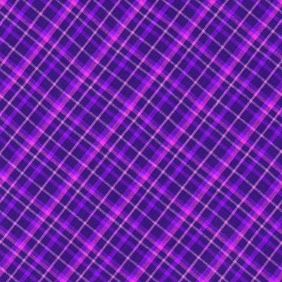 Purple And Pink Diagonal Plaid Fabric Background Art Print by Keith Webber Jr