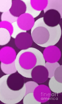 Digital Art - Purple And Pink Polka Dots by Andee Design