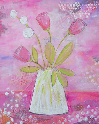 Painting - Purple And Pink Whimsy by Carla Parris