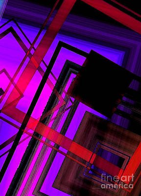 Purple And Red Art Art Print by Mario Perez