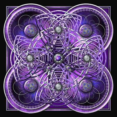 Photograph - Purple And Silver Celtic Cross by Ricky Barnes