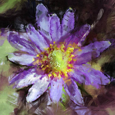 Painting - Purple Anemone by Susan Schroeder