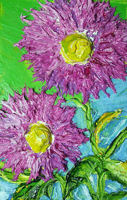 Purple Asters Print by Paris Wyatt Llanso