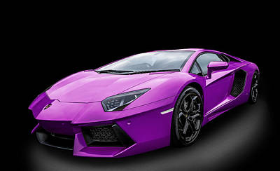 Photograph - Purple Aventador by Matt Malloy