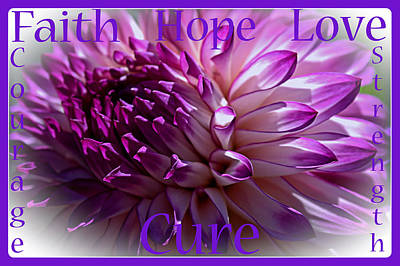 Purple Awareness Support Art Print