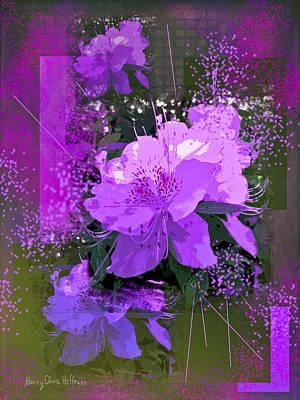 Photograph - Purple Azalea by Nancy Olivia Hoffmann