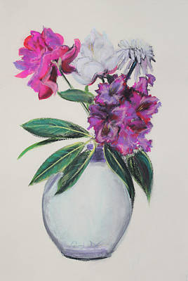 Painting - Purple Azalea Spring Bouquet by Asha Carolyn Young