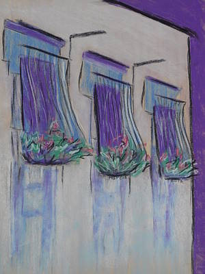 Pastel - Purple Balconies by Marcia Meade