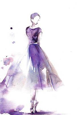 Ballerina Painting - Purple Ballerina IIi by Sophia Rodionov