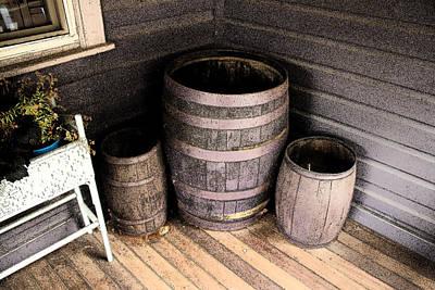 Photograph - Purple Barrels by Michael Porchik