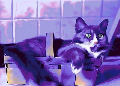 Purple Basket Case Art Print