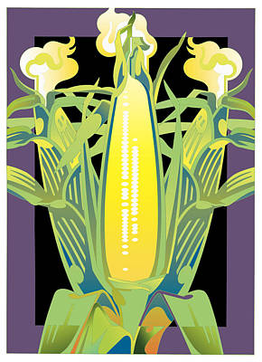 Purple-black Corn Art Print