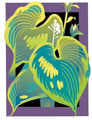 Purple-black Hosta Art Print